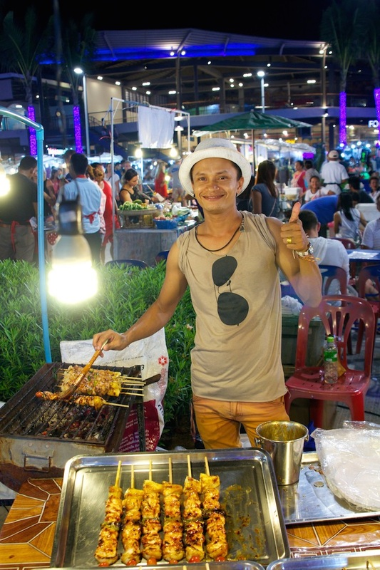 Friendly night markets in Thailand.