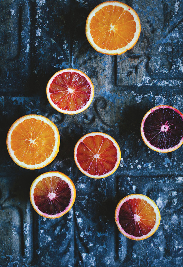 Orange Mood indigo and orange: a summer mood board | escape button