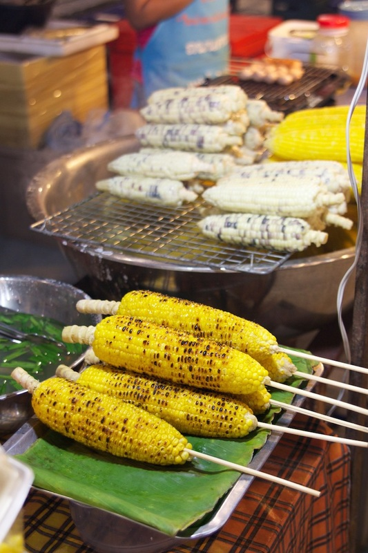 Corn on the cob from food markets.
