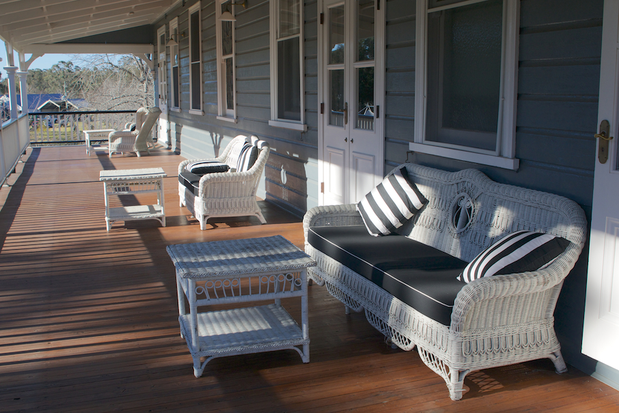 Verandah lounges at Peppers Convent, Hunter Valley accommodation