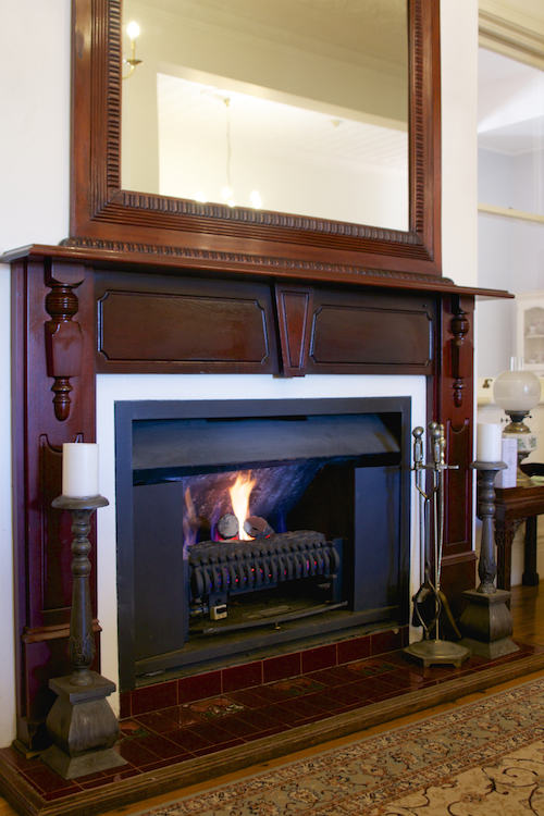 Fireplace at Peppers Convent Hunter Valley accommodation