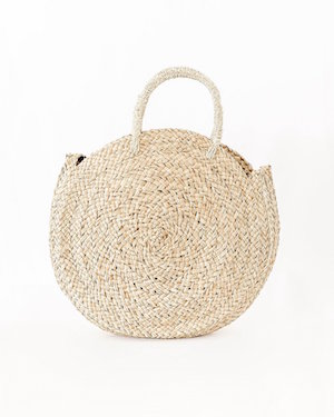 A La Roundy Straw Bag Hello Trader