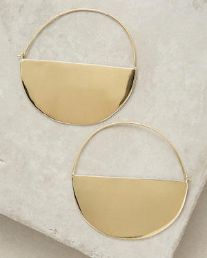 Anthropologie half moon earrings