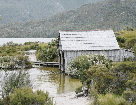 Dove Lake Boat Shed at Cradle Mountain.