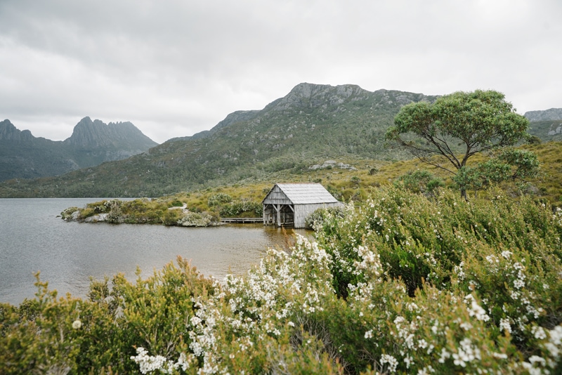 Dove Lake boat shed in Cradle Mountain.