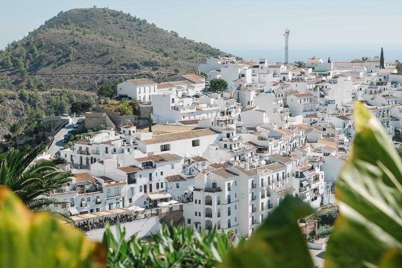 A view over Frigiliana in Spain