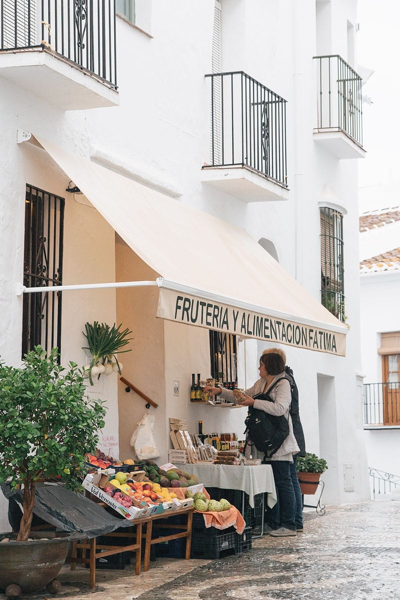 Local fruit market in Frigiliana.