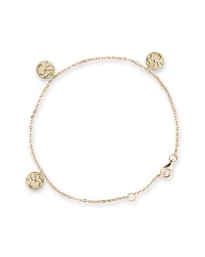 Gold Disc Bianc Bracelet