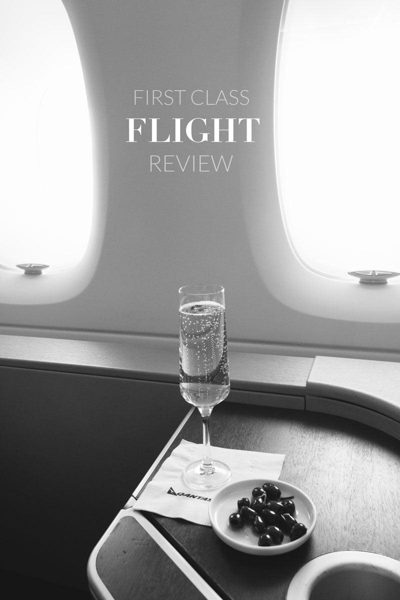 Inside Qantas first class cabin
