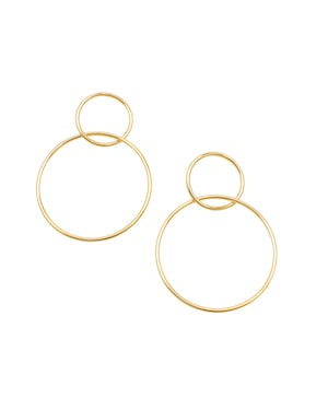 Jolie and Deen gold hoop earrings