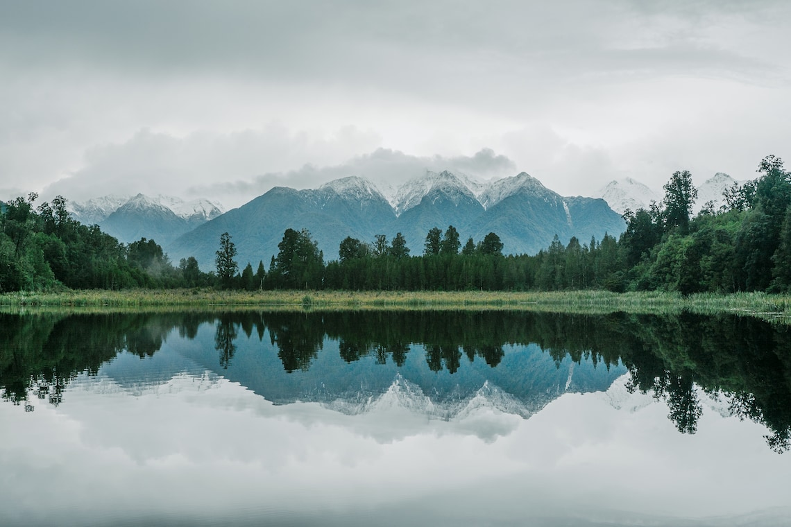 Lake Matheson South Island New Zealand