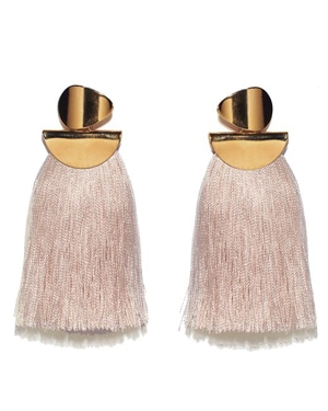 Lizzie Fortunato Blush Tassel Earrings