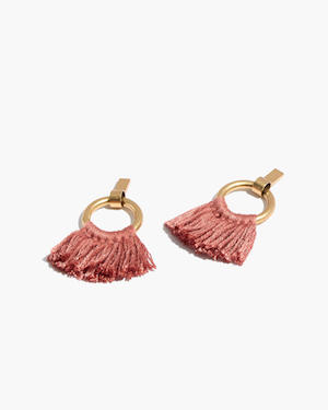 Madewell Hoop Tassel Earrings