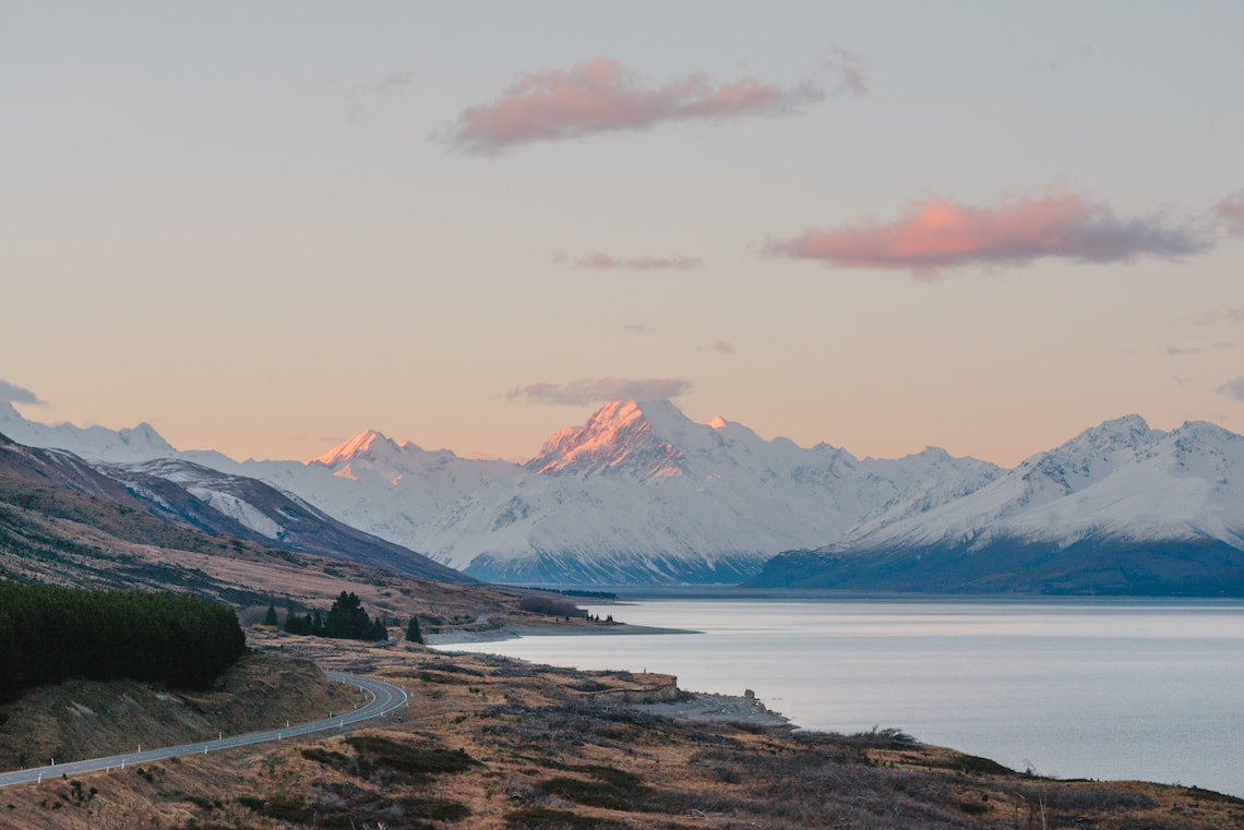 Mount Cook Sunset New Zealand