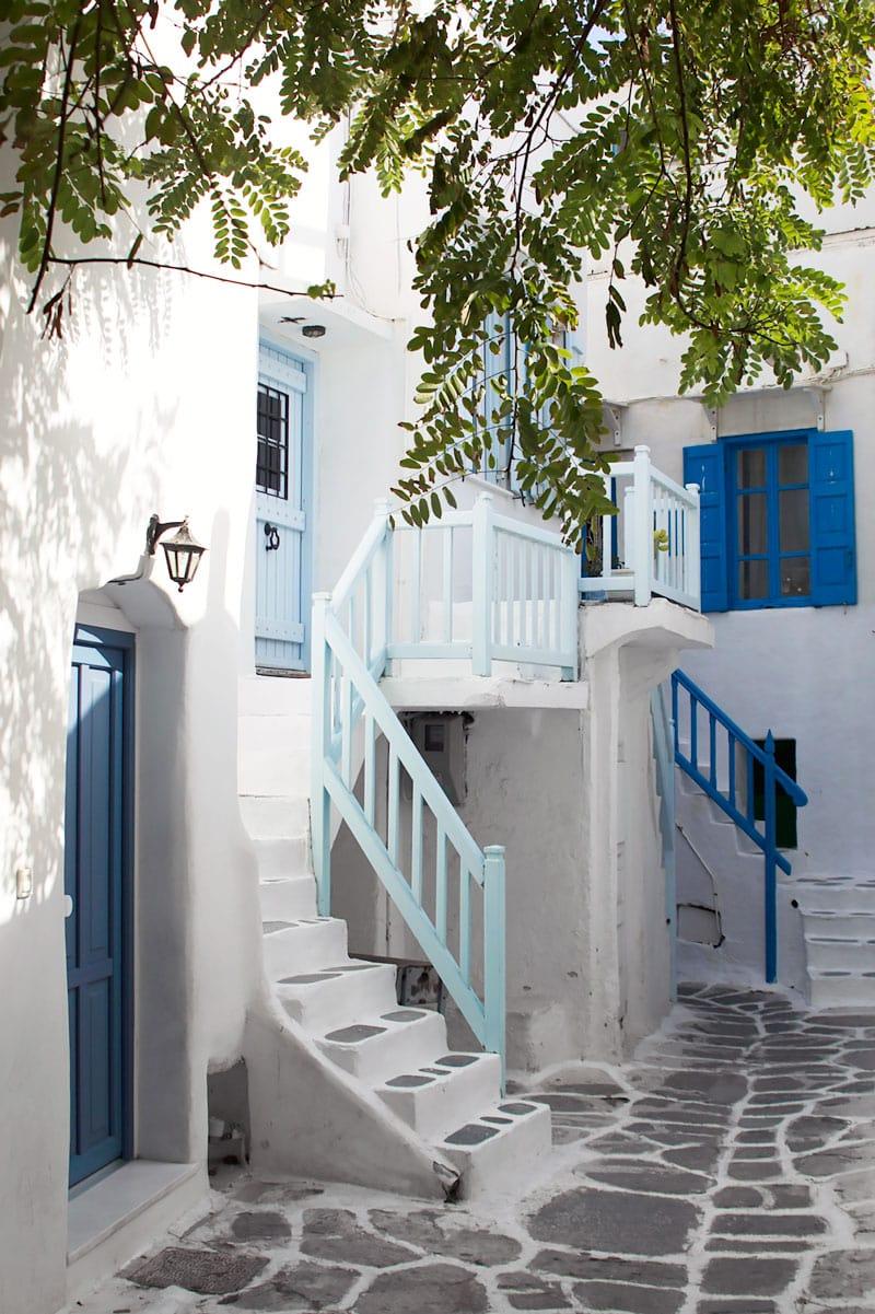 Mykonos Town cobblestone streets