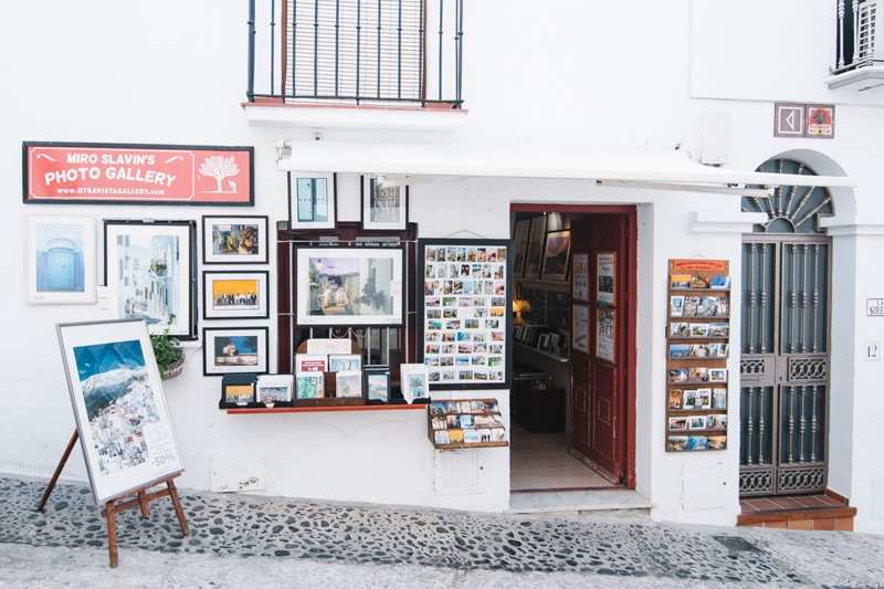 Photo gallery shop in Frigiliana.