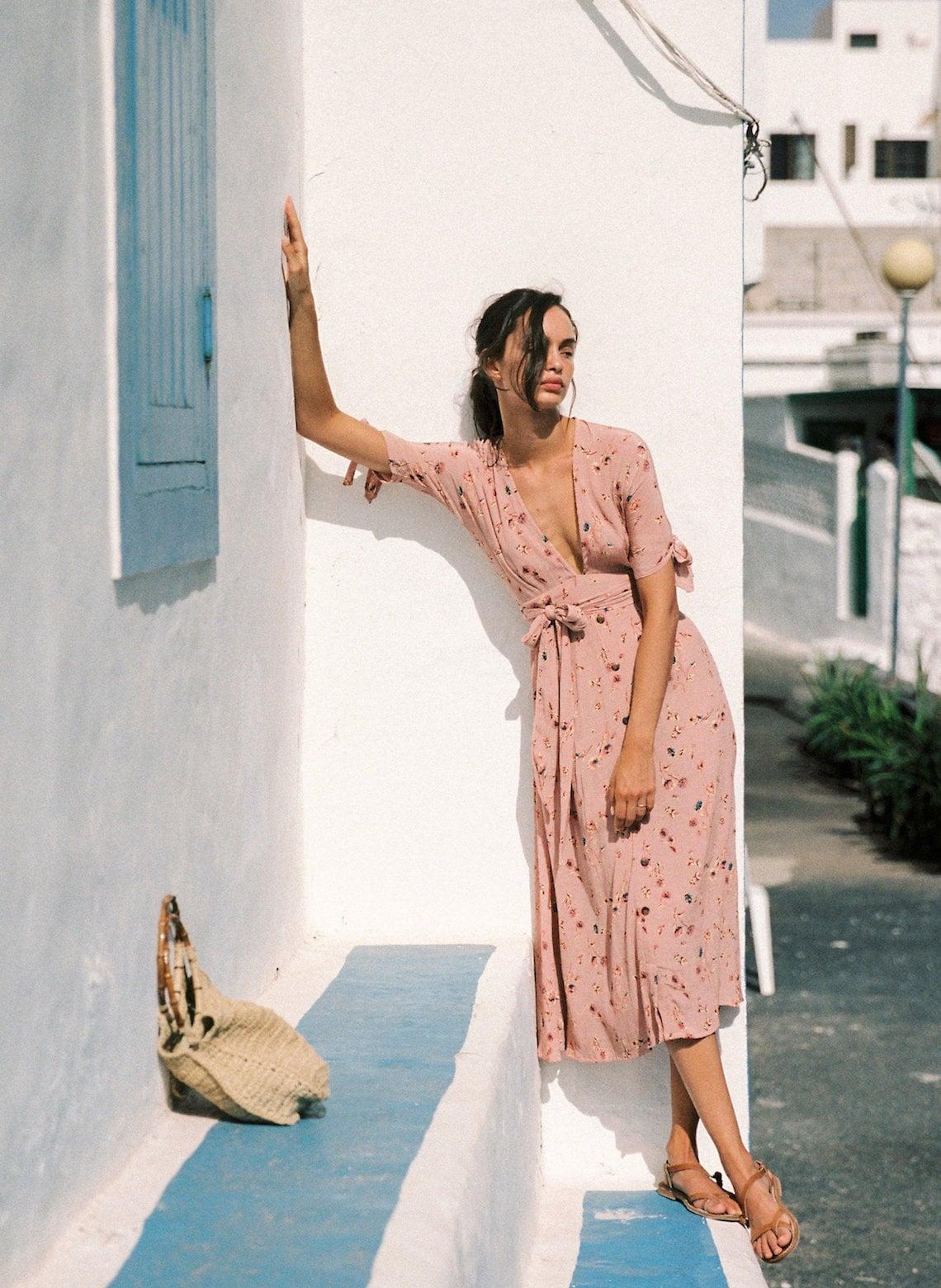 Salina Floral Print Summer Dress