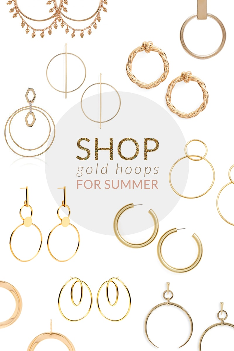 gold hoop earrings shopping edit
