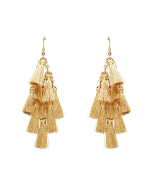 Sportsgirl Gold Tassel Earrings