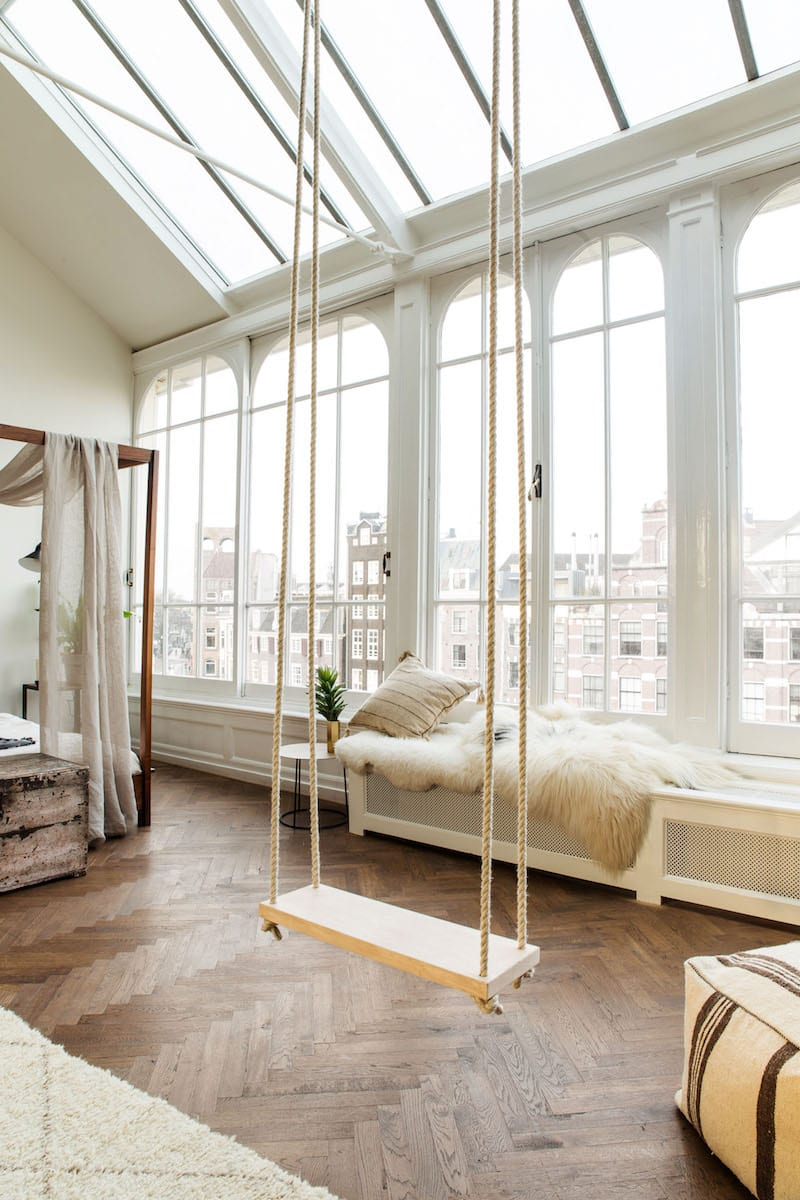 The Loft Amsterdam indoor swing