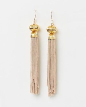 The Tasslery Champagne Tassel Earrings
