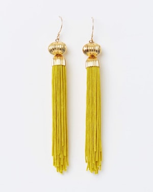The Tasslery Solar Tassel Earring