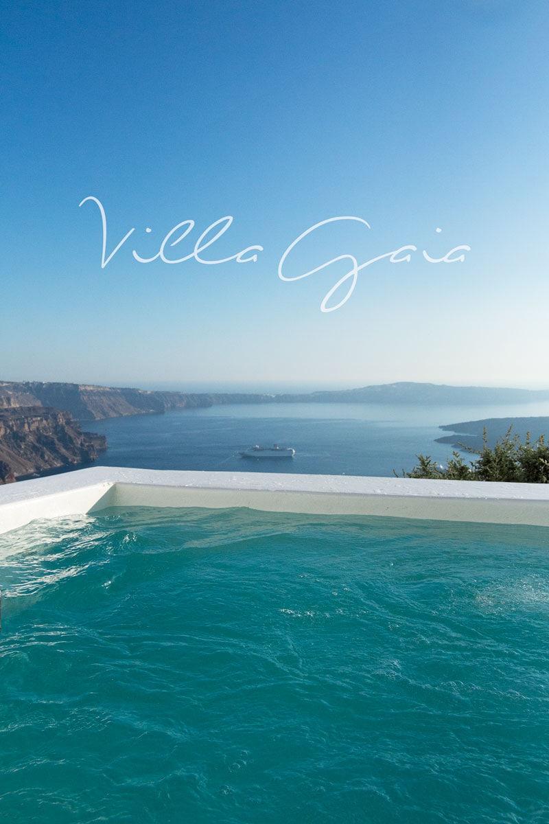 Villa Gaia infinity pool Santorini