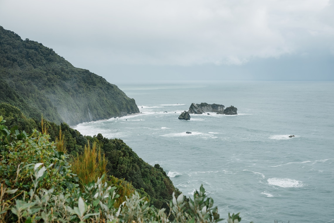 Knights Point Lookout South Island New Zealand.