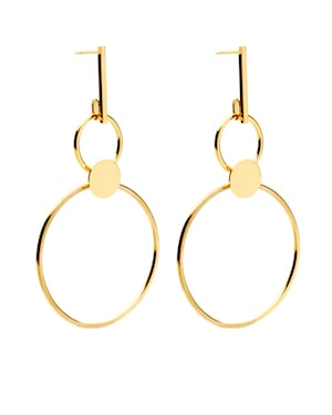 Amber Sceats gold hoops