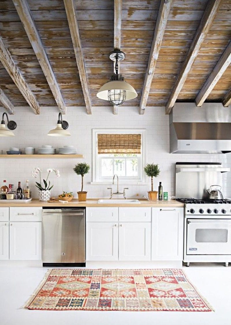 aztec rug kitchen styling