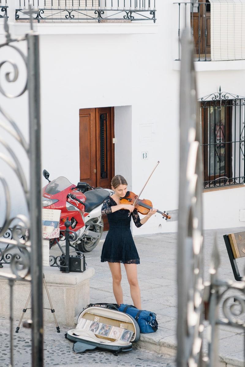 Musician busker in Frigiliana.