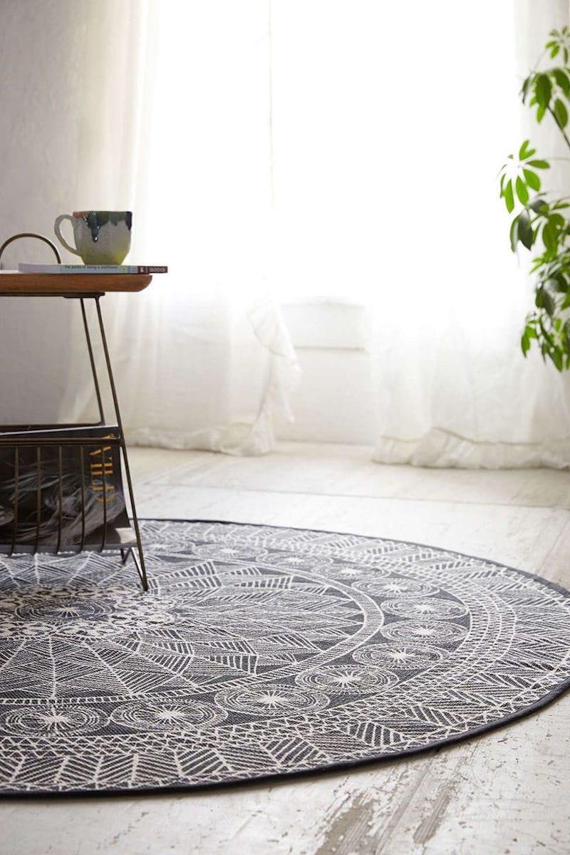 round aztec rug