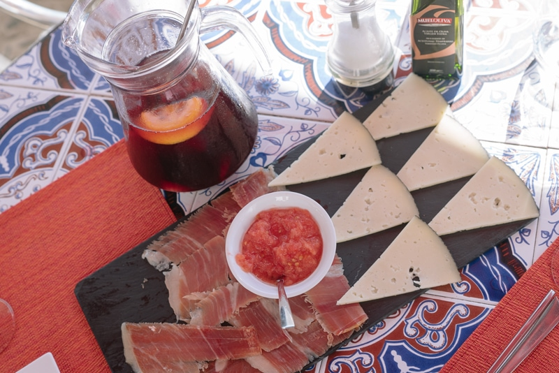 Spanish tapas in Frigiliana
